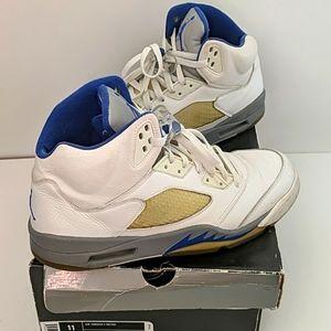 Nike Air Jordan 5 Retro Size 1 White Blue